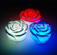 Free shipping 15pcs Rose LED light changing color LED candle top deal for christmas day Christmas decoration HOT!!