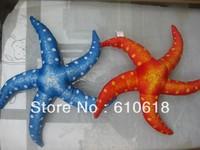 Free Shipping Wholesale 12Pcs/Lot 2 Colors Starfish Stuffed Plush Glass Sucker Toys Dolls Gifts Car Home Decor Toys