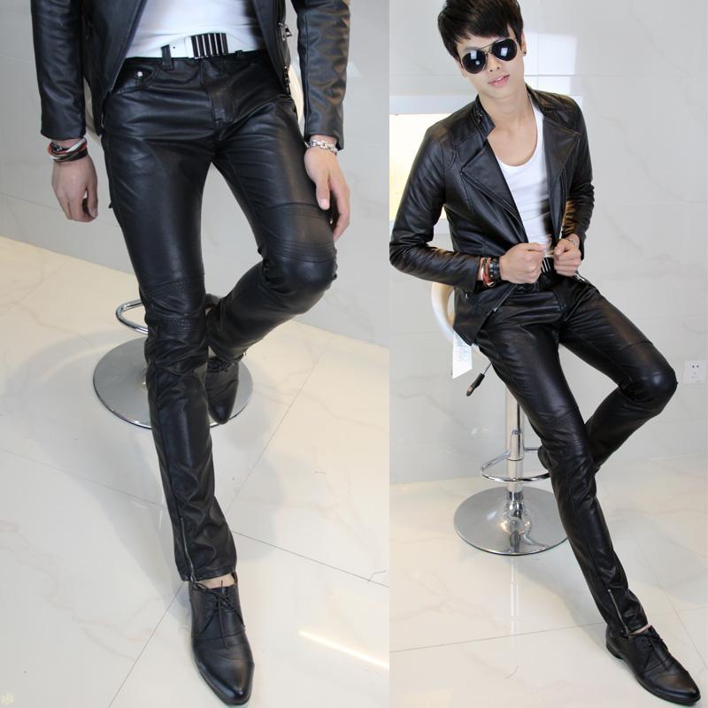 Mens Leather Pants Leather Pants Fashion Men