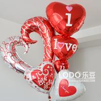 Aluminum aluminum foil balloon love combination Large xo