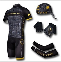 Free Shipping Men Riding Breathable Reflective Jersey Cycle Clothing Cycling Wear bike Jersey 4 piece