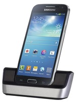 CHROME DESKTOP DOCK POD CRADLE USB SYNC CHARGER FOR SAMSUNG GALAXY S4 MINI i9190 Retail