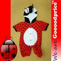 Beetle Ladybug Wings Baby Costume Romper Birthday Halloween X'mas Szie Chart