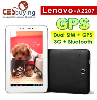 7.0 inch Free Shipping Lenovo A2207 Pad  Tablet PC  Dual Core QHD Screen 1GB RAM 16GB ROM GPS  Dual SIM  GSM 3G Phone  Bluetooth