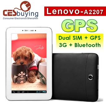 7.0 inch Free Shipping Lenovo A2207 Pad  Tablet PC  Dual Core QHD Screen 1GB RAM 16GB ROM GPS  Dual SIM  GSM 3G Phone  Bluetooth