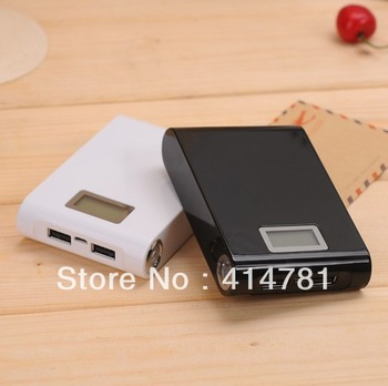 free shipping Hong Kong post High Quality 2 Dual USB 12000mAh power bank moblie phone backup powers External Battery pack