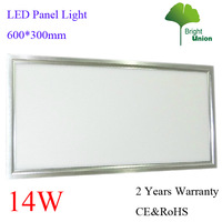 New Arrival 600*300*11MM 14W LED Panel light 960LM 2 Years Warranty