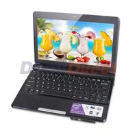 """10.2"""" windows 7 laptop netbook Intel Atom D2500 dual core 1GB RAM 160GB HDD support WIFI RJ45 1024x600pix"""