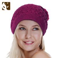 Actionfox fox flower knitted hooded ball pocket cap 633 - 1899
