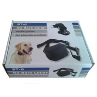 1pc Rechargeable Bark Terminator advanced bark control collar Shock + Vibra Dog Training Collar