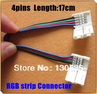 50pcs/lot Led strip connector 3528 5050 RGB connector with wire 12V 4 pin connector so convenient free shipping