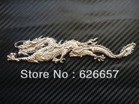 Car Badge Metal  Emblem Sticker Dragon 3D Logo Silver