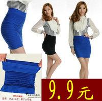 Fashion new 2013 women's slim  size sweet chiffon long sleeve length skirt    sexy dress