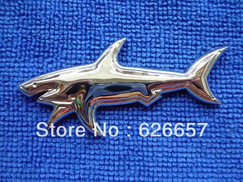 Shark Emblems Car Badge Emblem Sticker Shark