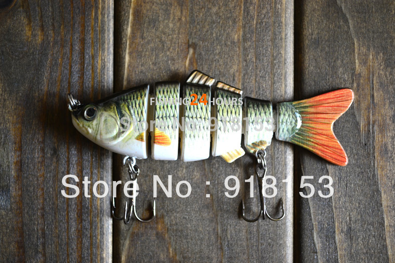 "G-4"" 0.5oz Fishing Lure Bait Swimbait Wobbler Real Life-Like 4 Segments Bass G(China (Mainland))"