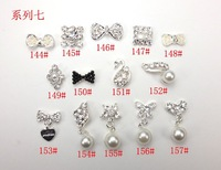 Freeshipping Hot New cute DIY metal materials 3D nail products bow tie wholesale Mobile noble bride decoration