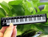 D Free Shipping Stationery Music Piano Keybroad Ruler,Gift for Friends/Kids,For School/Office