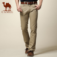Camel camel casual pants summer men's clothing fashion slim straight male long trousers khaki