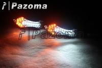 Pazoma Motorcycle LED Mini Blinker FRECCE Clignotant turn signals indicators with Daytime Running Light For Yamaha hondda suzuki