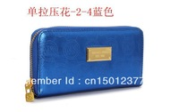 2013 new designer brand female wallets women's fashion Single zipper wallets leathers wallet purse free shipping