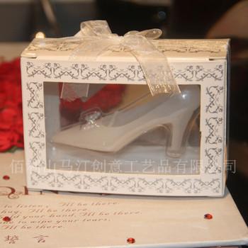 Free Shipping 10PCS High-Heeled Shoe Shaped Wedding Unique Gift Ideas Free Shipping,Candle Holder Wedding Candle, Hot Sale