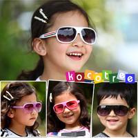 wholesale Child sunglasses stripe child glasses large sunglasses fashion sunglasses anti-uv