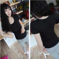 Free Shipping wholesale Summer women's sympathize t-shirt female short-sleeve slim basic shirt female