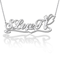 Aesthetic 925 pure silver customize diy letter necklace lettering necklace