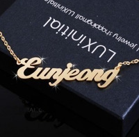 For nec  klace customize necklace female letter pendant 18k rose gold lovers necklace pure silver 925diy necklace