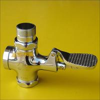 Big valve body copper flusher flush valve pedal squat septic tank size flush valve
