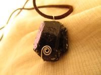 Handmade 999 pure silver black tourmaline nunatak necklace long necklace male Women adjustable jewelry shopping