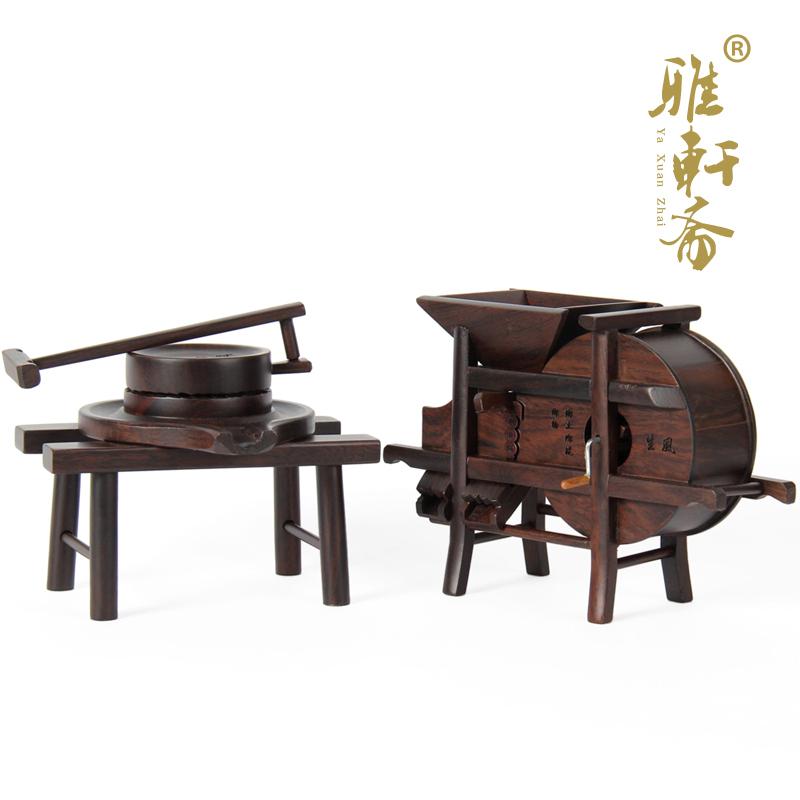 Mahogany furniture miniature furniture wood decoration stone lettering skeif windmill black wood catalos(China (Mainland))