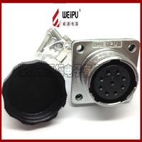 Aviation plug servo motor industrial plug led display wf16 female thread