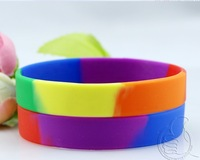 Blank silicone wristband no word identification bracelet engraved lettering printed silicone wristbands sixth iridescence