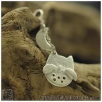 Owl handmade silver jewelry female 999 pure silver pendant necklace bracelet wholsale jewelry