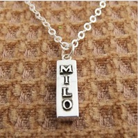Customize lettering gift accessories 925 pure silver women's necklace skzxl1003