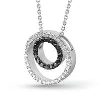 Female silver 925 pure silver black and white jewelry jewelry design