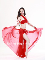 New Dancing Dancewear belly dance costume Bra skirt Siamese+2 Arm ornaments 4 pics Belly Dance for Ladies