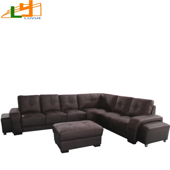 Luyue L-shaped leather sofa corner sofa combination of comfort export Southeast Asian style sofa(China (Mainland))