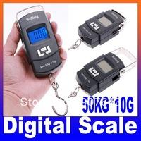 50kgx10g 50kg/10g 50kg-10g Mini Hanging Weighing Luggage Digital Scale,freeshipping