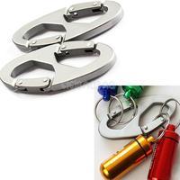 2Pcs 8-Shaped Aluminum Carabiner Clip Hook Hiking Climbing Hanger Buckle  #gib