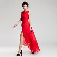 FreeShipping 2013 summer bohemia placketing irregular sweep  ultra long     beach maxi floor length sexy dress