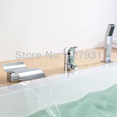 Shipping salon sink faucet bathroom tap mixer Chrome Finish Kitchen ...