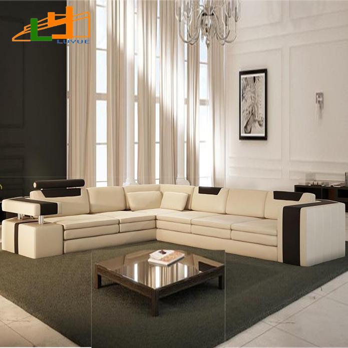 Lu guangdong modern ikea sofa leather sofa l shaped sofa for Canape d angle ikea