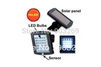 1PC Solar PIR Sensor Light+36 Bright LED Bulbs+PIR Sensor Included+Updated Solar Panel+Free Shipping