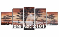 Free Shipping!!5pcs MODERN ABSTRACT HUGE WALL ART OIL PAINTING ON CANVAS LA5-009