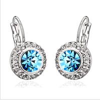 Crystal earrings earring aesthetic short drop earring girlfriend gifts