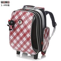 Unme3328 1 5 primary school students trolley school bag girls male spacer raincoat