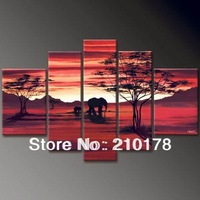 Free Shipping!!5pcs MODERN ABSTRACT HUGE WALL ART OIL PAINTING ON CANVAS LA5-010