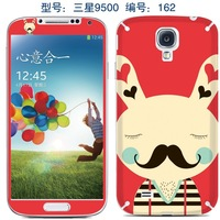 Beard rabbit diy cute cartoon decoration sticker for samsung galaxy s4 s 4 i9500 cell mobile kawaii phone one piece